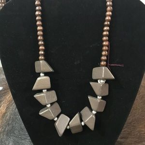 Brown wooden necklace